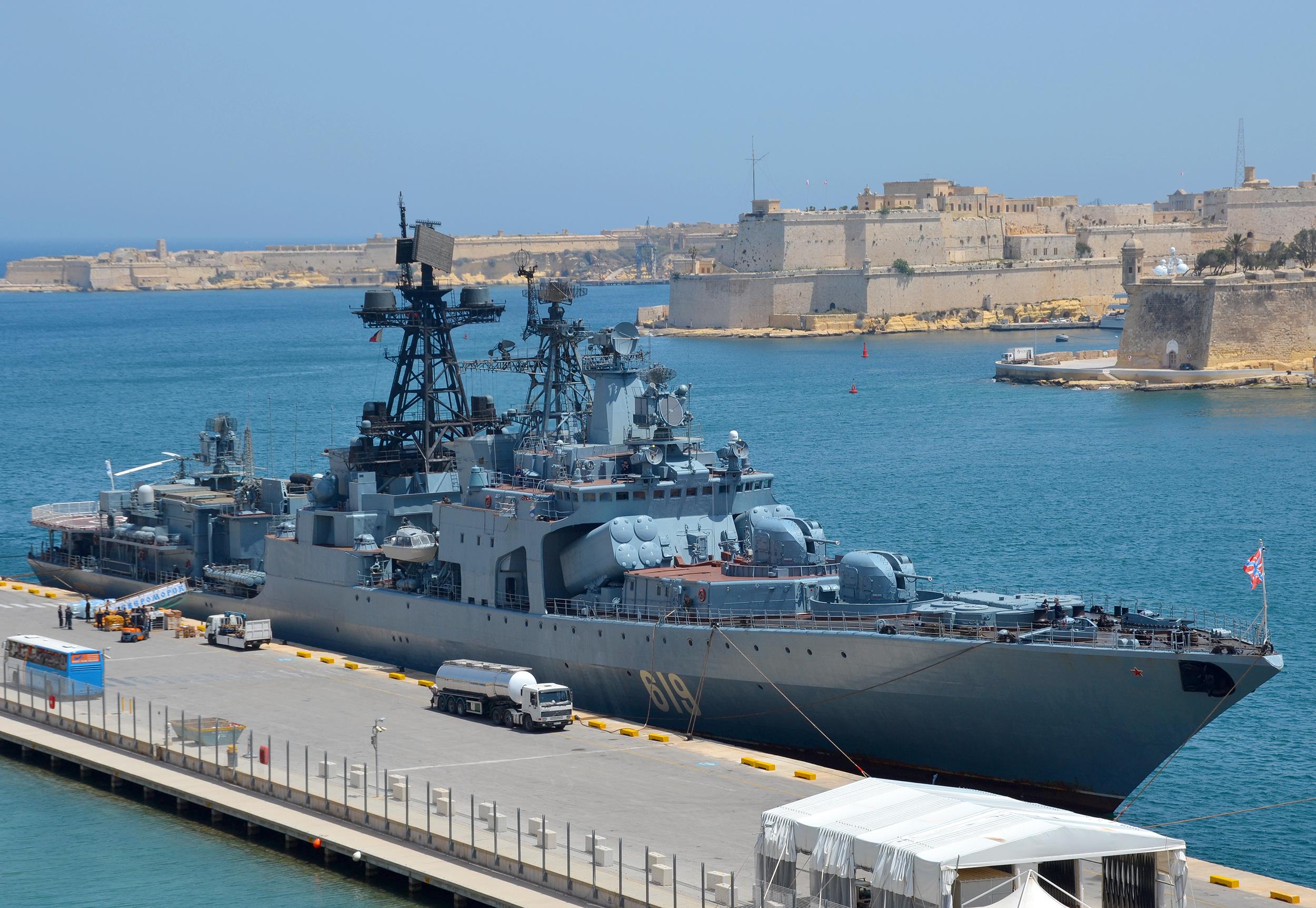 Российская эскадра у берегов Сирии