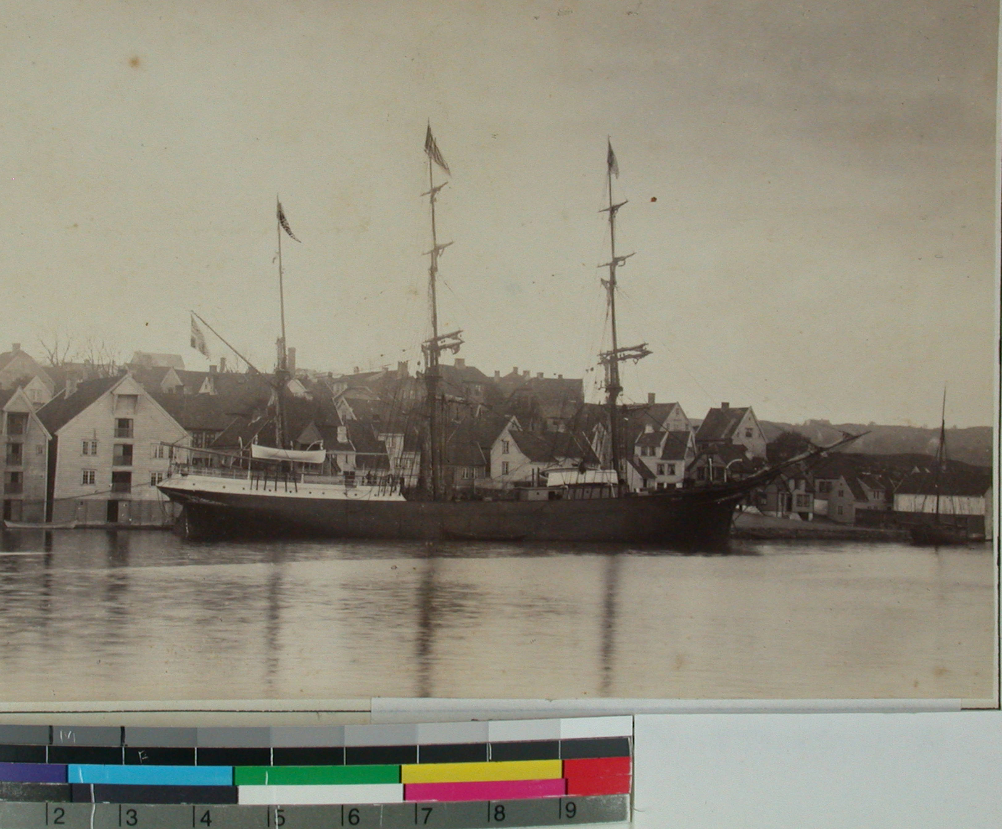 Mission ship Paulus along the Stavanger harbor quay, Norway 1885.jpeg